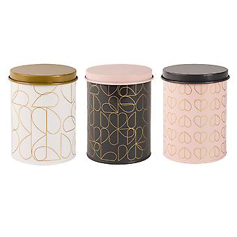 Beau & Elliot Set of 3 Champagne Edit Storage Tins