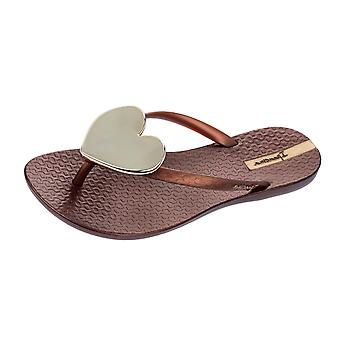 90efbc9fc377d4 Ipanema Maxi Heart Womens Beach Flip Flops   Sandals - Bronze