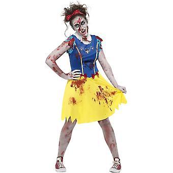Zombie Miss Snow Costume, Teen S