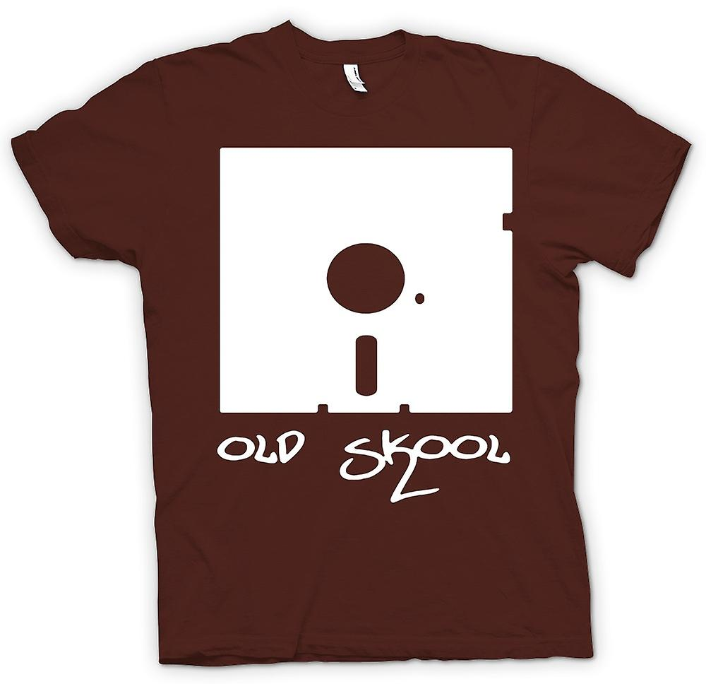 Heren T-shirt - oude Skool Floppy Disc - grappige