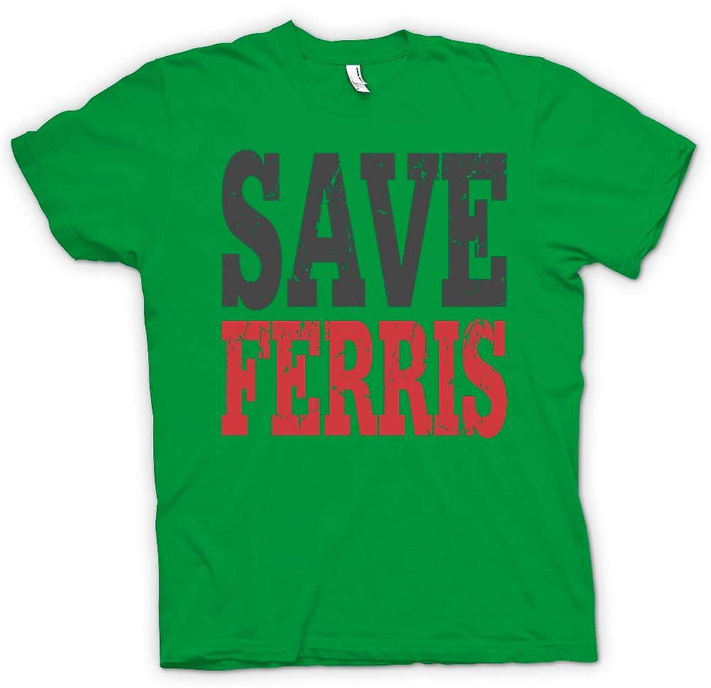 Mens t-shirt - Save Ferris Ferris Beuller Movie - Funny
