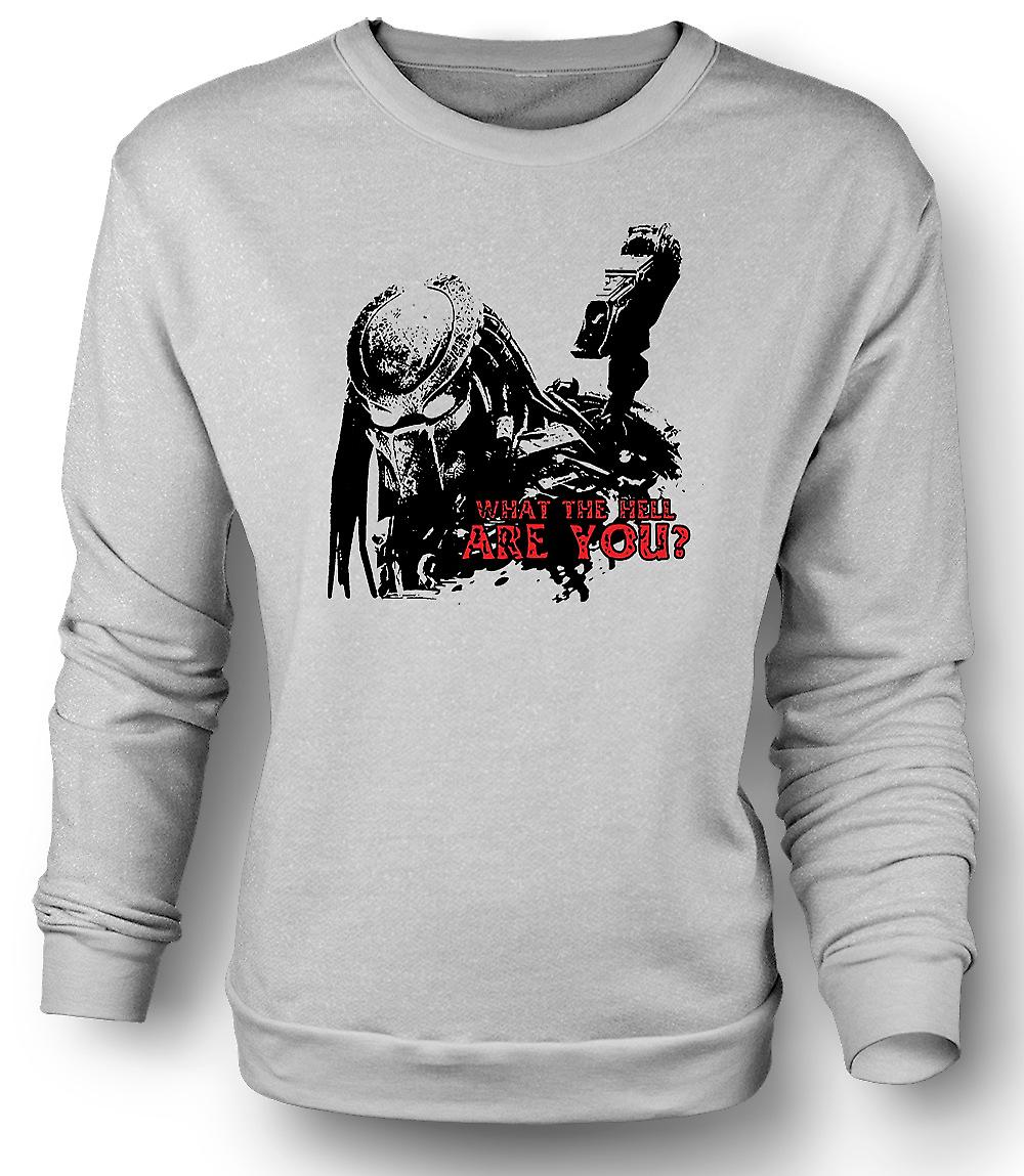 Mens Sweatshirt Predator What The Hell - Alien