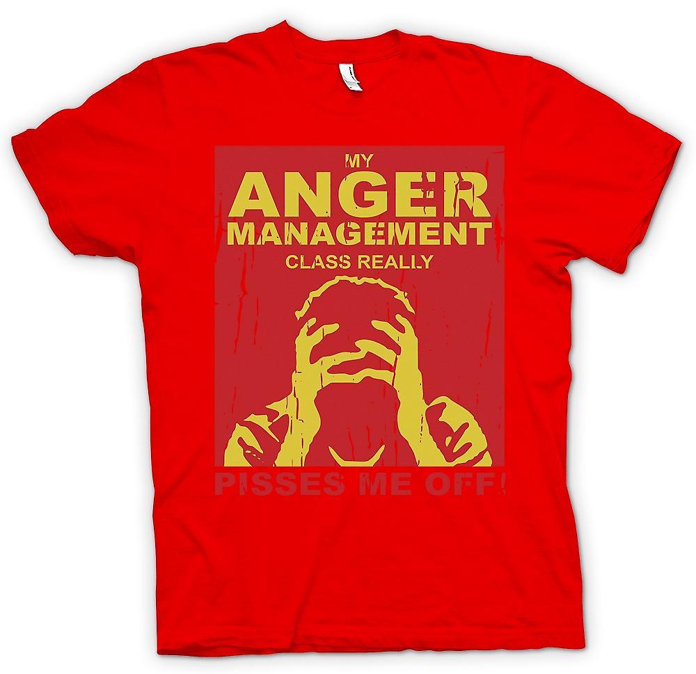 Mens t-shirt-la mia classe di gestione della rabbia mi fa davvero incazzare