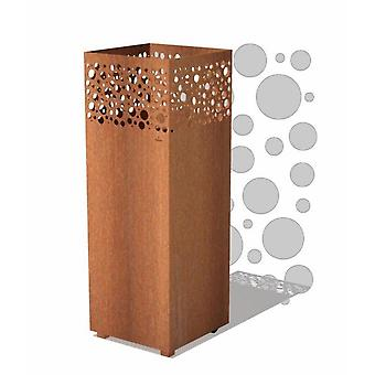 Burni vuurzuil I cortenstaal 40x40x100 cm - roest