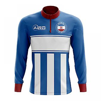 Mari El Concept Football Half Zip Midlayer Top (Blue-White)