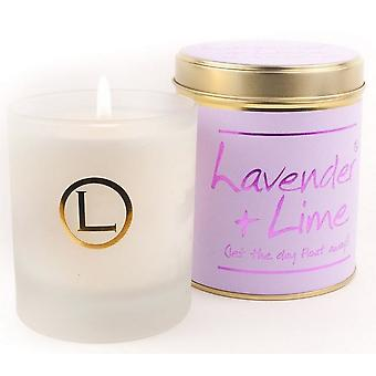 Lily Flame Scented Glassware Candle - Lavender and Lime