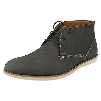 Men's Clarks Casual Desert Lace Up Ankle Boots Franson Top Navy Nubuck Size 6G
