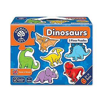 Orchard Toys Dinosaurs 2 Piece Puzzles