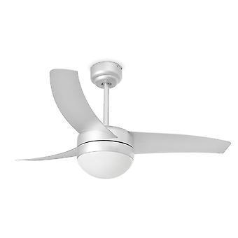 Faro - ventilador de teto de cinza pequena fácil com luz FARO33416