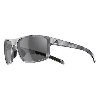 Adidas a423 6065 Grey Havana Whipstart Rectangle Sunglasses Cycling, Running, Driving Lens Category 3 Lens Mirrored Size 61mm