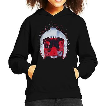 Original Stormtrooper Rebel Pilot Helmet Shatter Effect Kid's Hooded Sweatshirt
