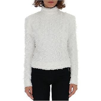 Balmain White Wool Sweater