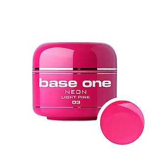 Basis einer Neon-Light pink 5 g UV-Gel