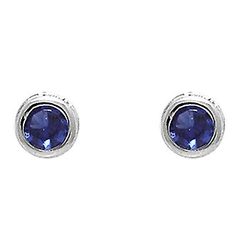 Ah! Jewellery Round Sapphire Crystals From Swarovski Studs