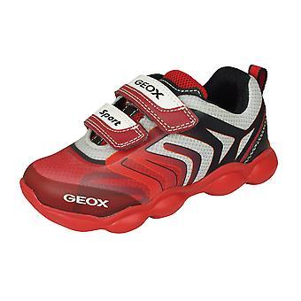 Geox J Munfrey B. A Boys trainers/schoenen-rood en zwart