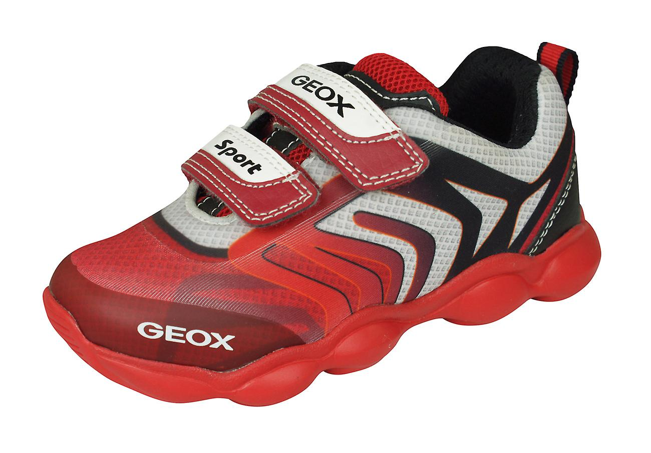 Geox J Munfrey B.A Boys Trainers   chaussures - rouge and noir