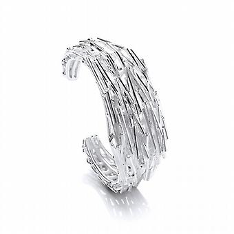 Cavendish French Heavy Silver Shards Cuff Bangle