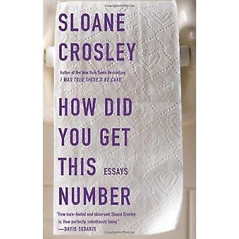 How Did You Get This Number by Sloane Crosley - 9781594485190 Book