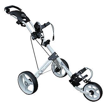 MKids 3 Lightweight Wheel Push Junior Kids Golf Trolley - White