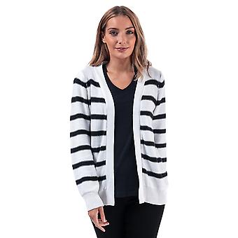 Womens Brave Soul Stripe Cardigan In White / Navy