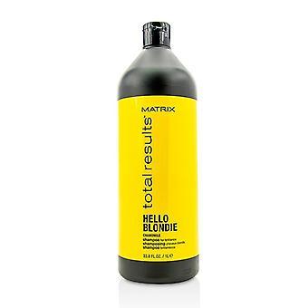 Matrix totaal resultaten Hello Blondie kamille Shampoo (voor schitterende) 1000ml/33,8 oz