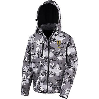 SAS Special Air Service A Sqn - Licensed British Army Embroidered Performance Hooded Camo Softshell Jacket