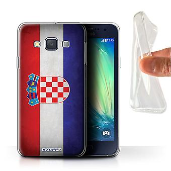 STUFF4 Gel TPU Case/Cover for Samsung Galaxy A3/A300/Croatia/Croatian/Flags