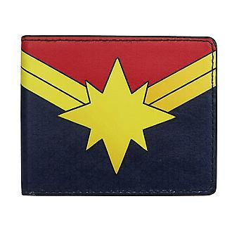Captain Marvel Logo Bi-Fold Brieftasche