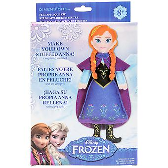 Anna Frozen Stuffable Felt Applique Kit- 72-74477