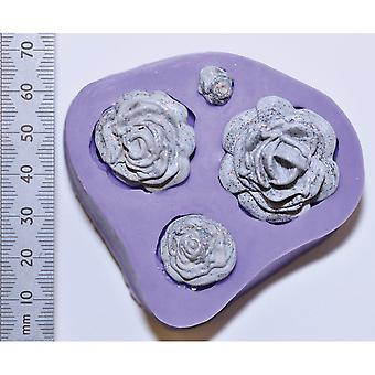 Wow! 3D Molds Rose Quartet Wmould26