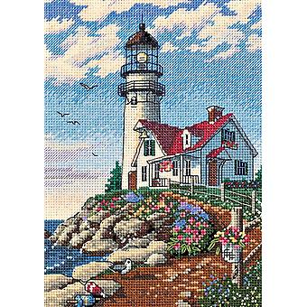 Gold Collection Petite Beacon At Rocky Point Counted Cross S 5