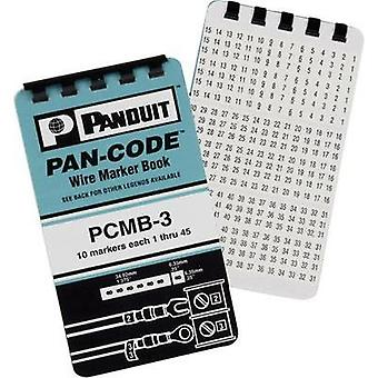 Wire Marker Book 1 - 15, 16 - 90, A - Z, +, -, /, 0 Labels per sheet: 45 PCMB-8 White Panduit Content: 1 Set