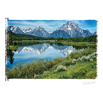 Kunstenaar serie Photo Card W/envelop-Grand Tetons boven u uit C0002E