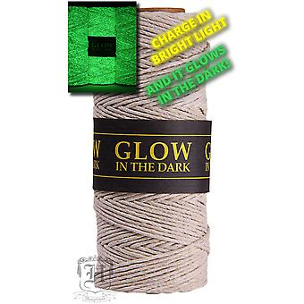 Hemp Cord 20lb 205'-Glow In The Dark 20NATGLO