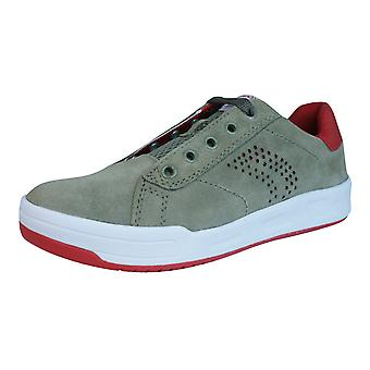 Geox Trainers J Rolk B Boys Suede Lace Up Shoes - Green