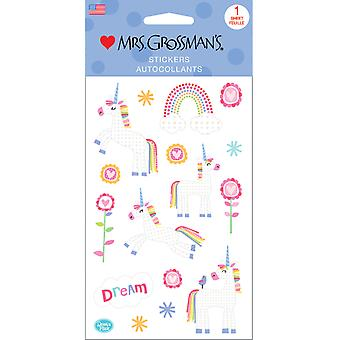 Mrs. Grossman's Stickers-Dreamy Unicorns 13585