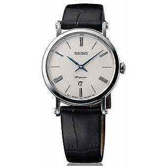 Seiko Premier damer safir Glass svart skinn SXB431P1 Watch