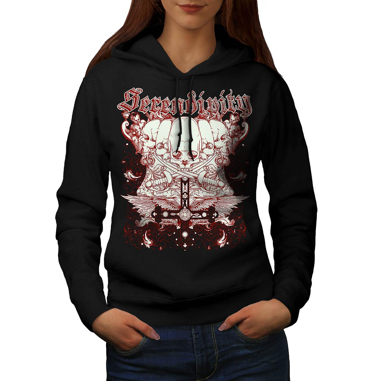 Serendipity Death Skull Women Black Hoodie | Wellcoda