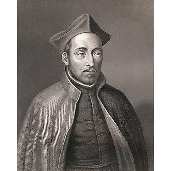 Saint Ignatius Of Loyola 1491 To 1556 Spanish Knight Hermit Priest And Founder Of The Society Of Jesus After A 19Th Century Engraving By W Holl PosterPrint