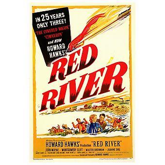 Rio Vermelho filme Poster Print (27 x 40)