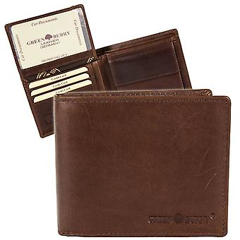 Greenburry burnt cow leather wallet 4803-24