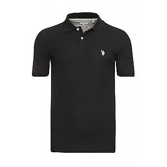 U.S. POLO ASSN. Shirt men's polo shirt black 197 42607 51887 199