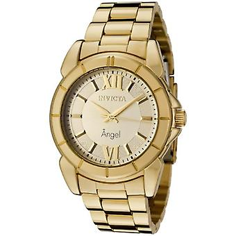 Invicta Women's 0459 Angel Collection Rhodium-Plated goud-Tone Watch