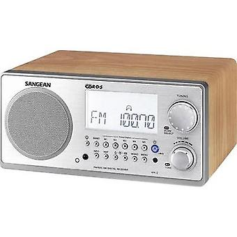 FM Table top radio Sangean WR-2 AUX, AM, FM Walnut, Silver