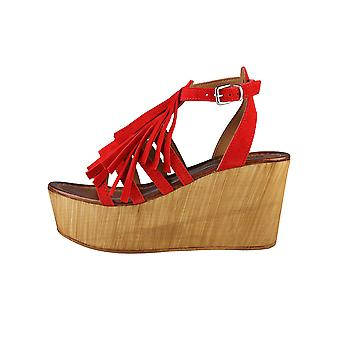 Ana Lublin Wedges Red