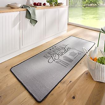 Design suede kitchen runner kitchen miracle grey 67 x 180 cm