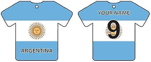 Personalised Argentina Flag Jersey Car Air Freshener