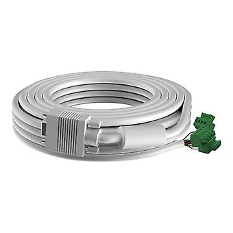 VISION 3 m VGA CABLE-High-Grade White Installation Cable. A moulded connector on one end, and a male phoenix connector on the
