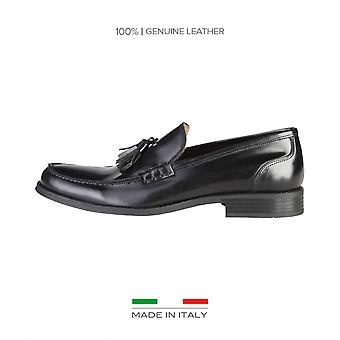 Lavet i Italien mænds hyttesko sort mærke