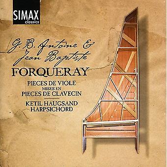 Ketil Haugsand - G.B. Antoine & Jean Baptiste Forqueray: Stykker De Viole Mises da stykker De Clavecin [CD] USA import